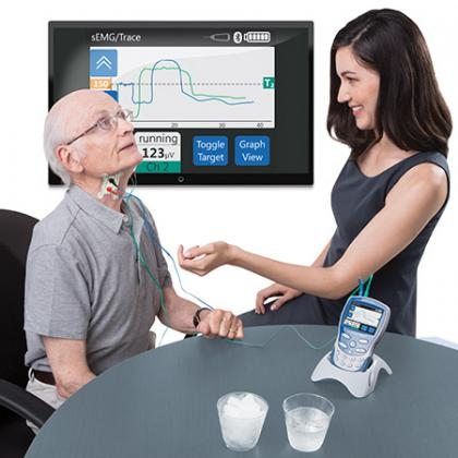 VitalStim Plus in use TV mount